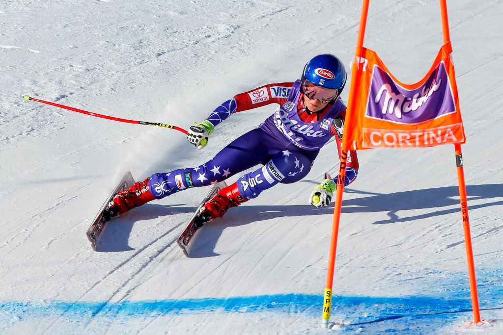 Mikaela Shiffrin of the U.S. competes during the Audi FIS Alpine Ski World Cup Women's Downhill last month in Cortina d'Ampezzo, Italy. (Getty Images)