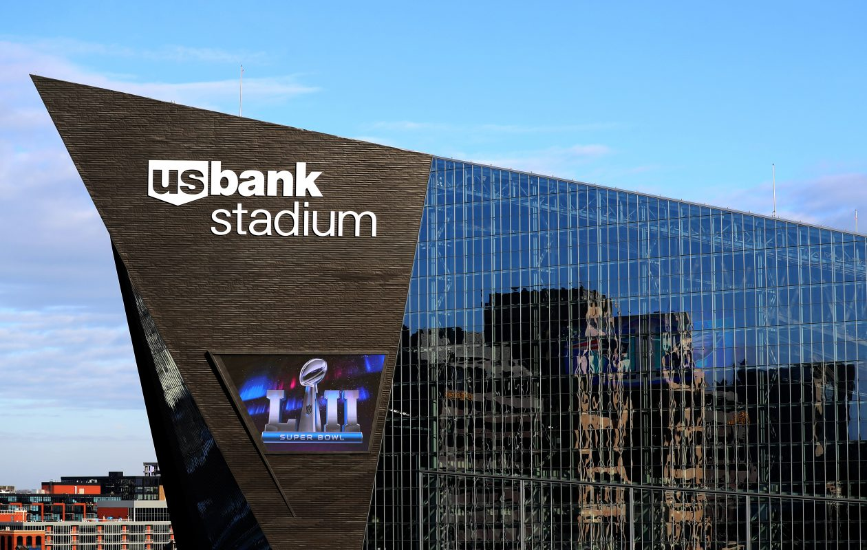 U.S. Bank Stadium will host the Super Bowl on Sunday between the Patriots and Eagles. (Getty Images)
