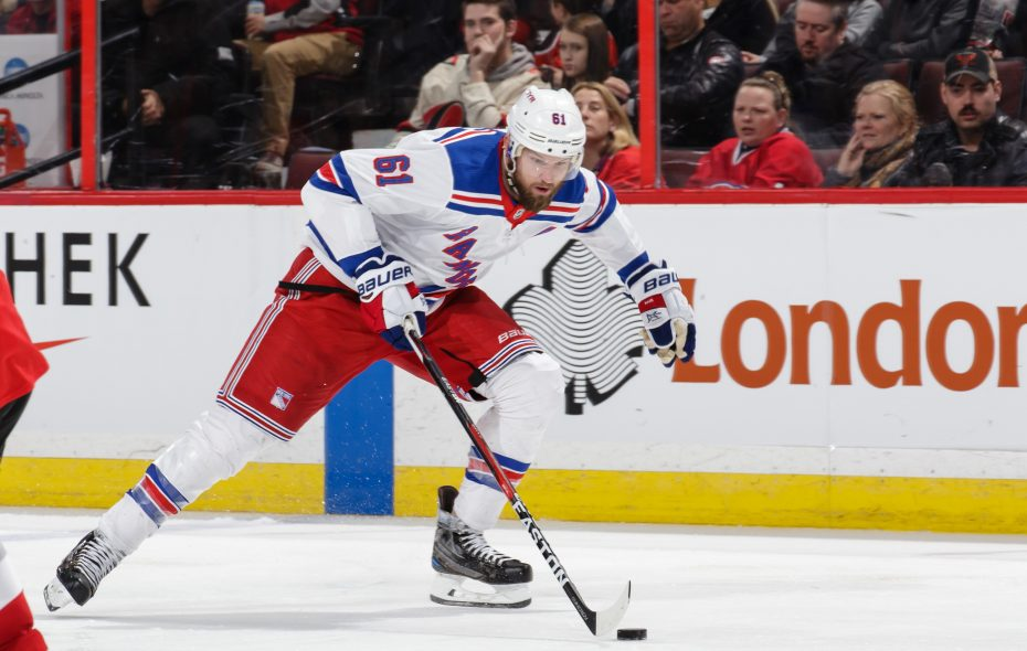 The New York Rangers' haul for Rick Nash could set the framework for an Evander Kane trade. (Getty Images)