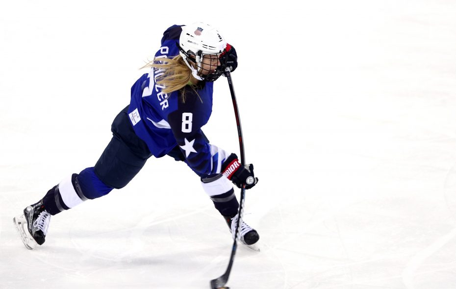 Emily Pfalzer and the United States women's hockey team are coming home with a gold medal. (Maddie Meyer/Getty Images)