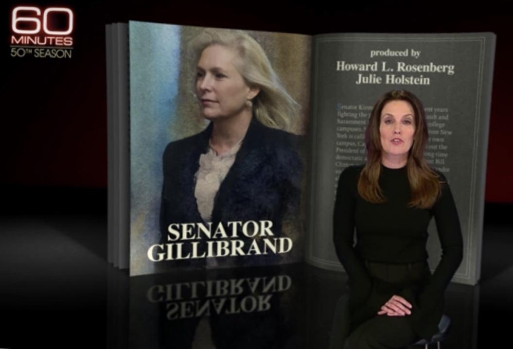 Sharyn Alfonsi of CBS News profiled Sen. Kirsten E. Gillibrand on '60 Minutes' on Sunday.