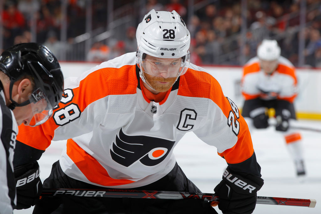 Flyers captain Claude Giroux entered the weekend fourth in the NHL in both assists (51) and points (72) (Getty Images).
