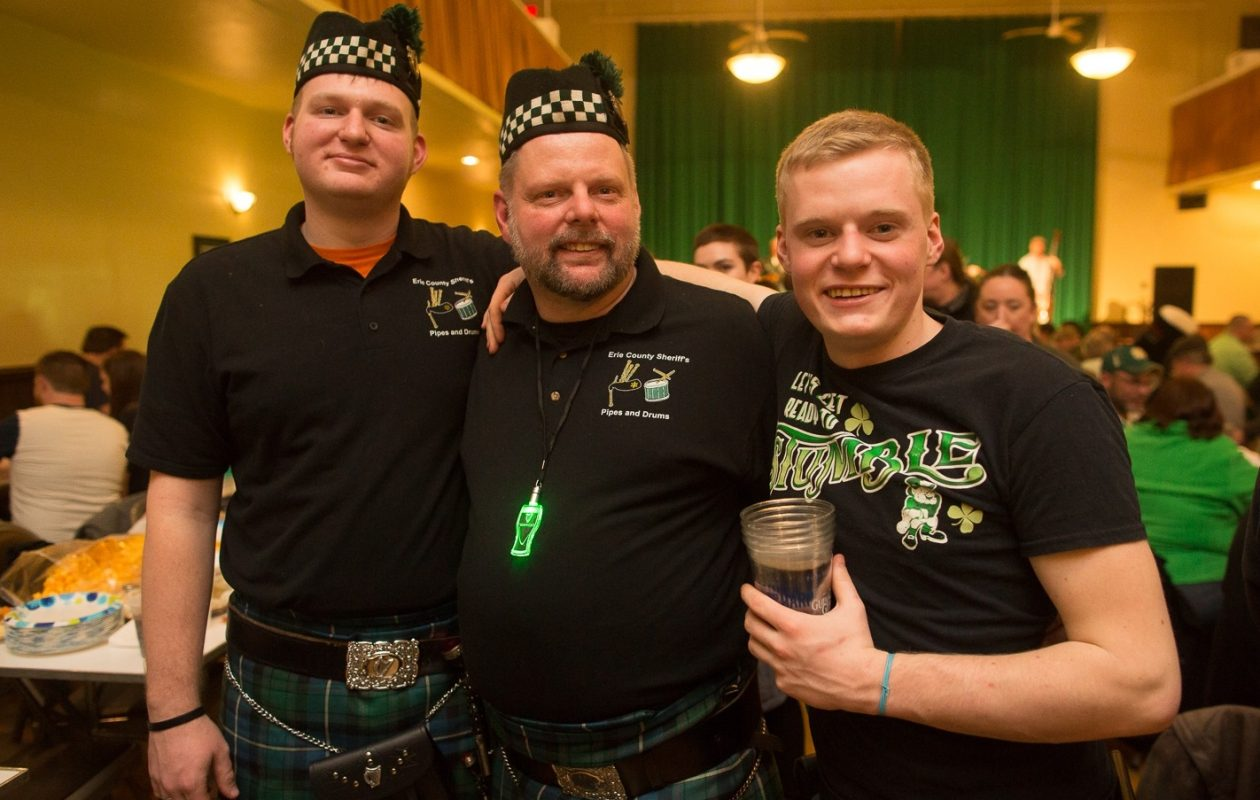 Smiling faces at the 2017 Guinness Toast in the Buffalo Irish Center. (Chuck Alaimo/Special to The News)