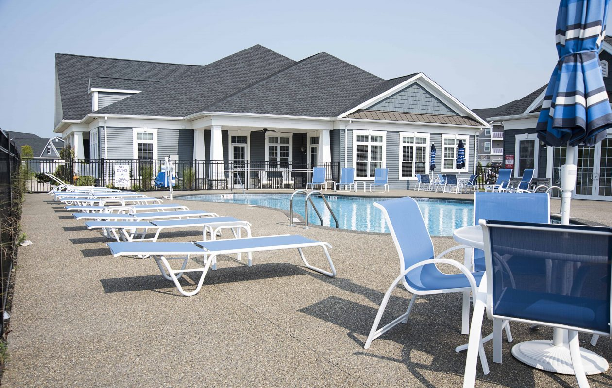 Residents can enjoy fun in the sun at the community pool of Heron Pointe.