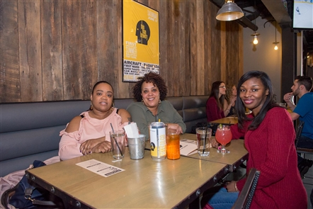 Smiles at Hip-Hop Brunch in Thin Man Brewery