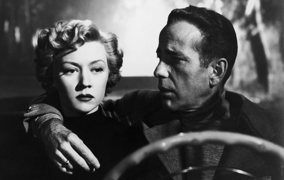 """Gloria Grahame and Humphrey Bogart in the 1950 film noir """"In a Lonely Place."""""""