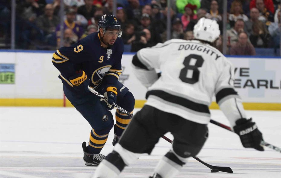 Evander Kane is gone from the Sabres, but the pain of this month's loss to Drew Doughty and Los Angeles lingers for Jason Botterill. (James P. McCoy/Buffalo News)