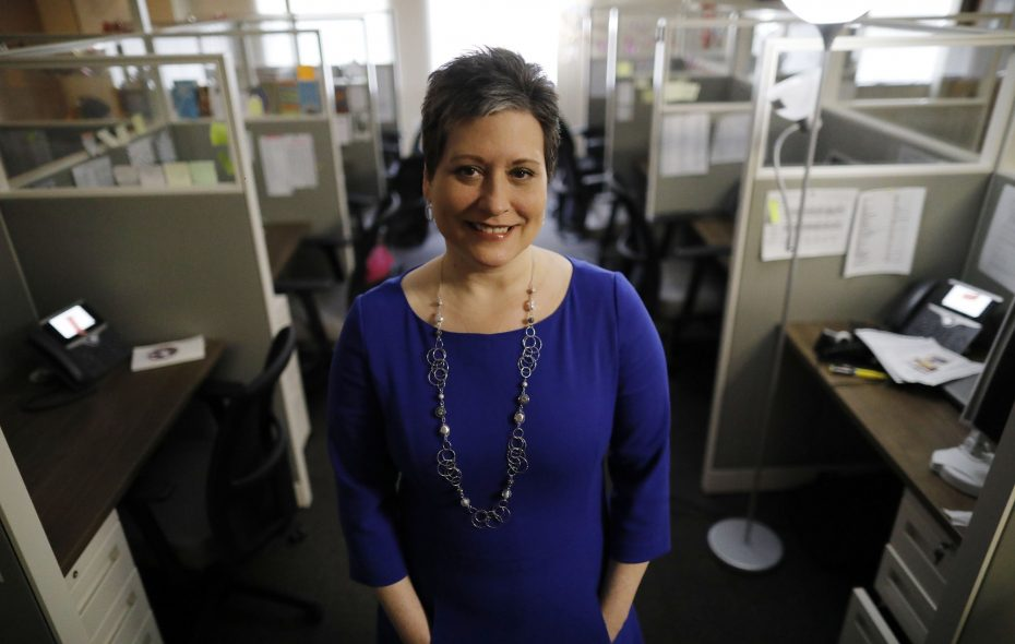 """""""It's putting into perspective that things happen, crisis happens, bad things happen,"""" says Jessica Pirro, CEO of Crisis Services, in the new agency office earlier this month. (Derek Gee/Buffalo News)"""