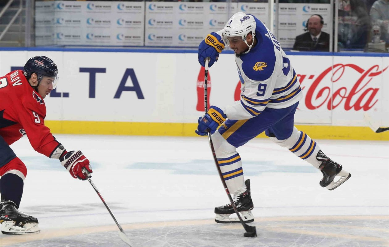 Evander Kane's career with the Sabres is apparently over (James P. McCoy/Buffalo News).