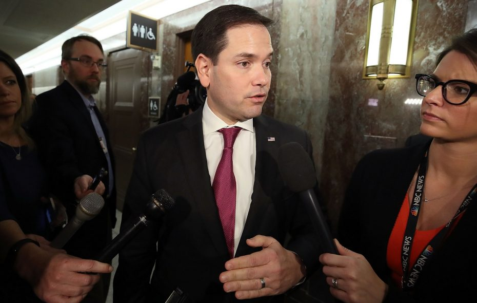 Florida Senator Marco Rubio, pictured in late January, addressed Stoneman Douglas students on CNN Town Hall. (Mark Wilson/Getty Images)
