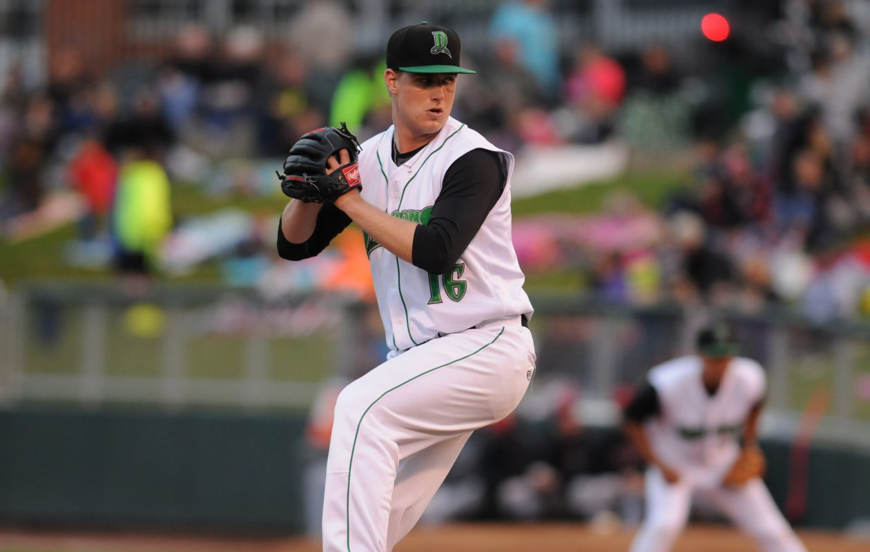 Clarence native Mark Armstrong in action with the Cincinnati Reds' Class A affiliate Dayton Dragons during the 2016 season. (Nick Falzerano/Dayton Dragons
