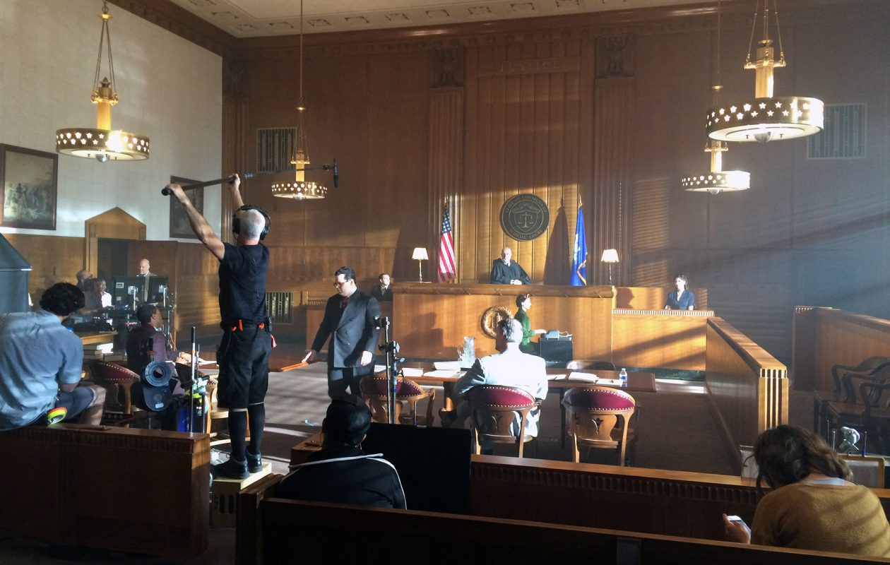 "The vacant Dillon Courthouse in Niagara Square downtown was the backdrop for many of the scenes fillmed for ""Marshall,"" the Supreme Court justice thriller released nationwide in fall 2017. (Buffalo Niagara Film Office)"