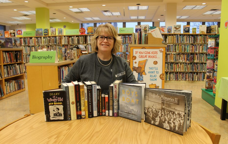 Buffalo and Erie County Library Director showcases the most popular books of 2017. (Courtesy of Buffalo and Erie County Public Library)
