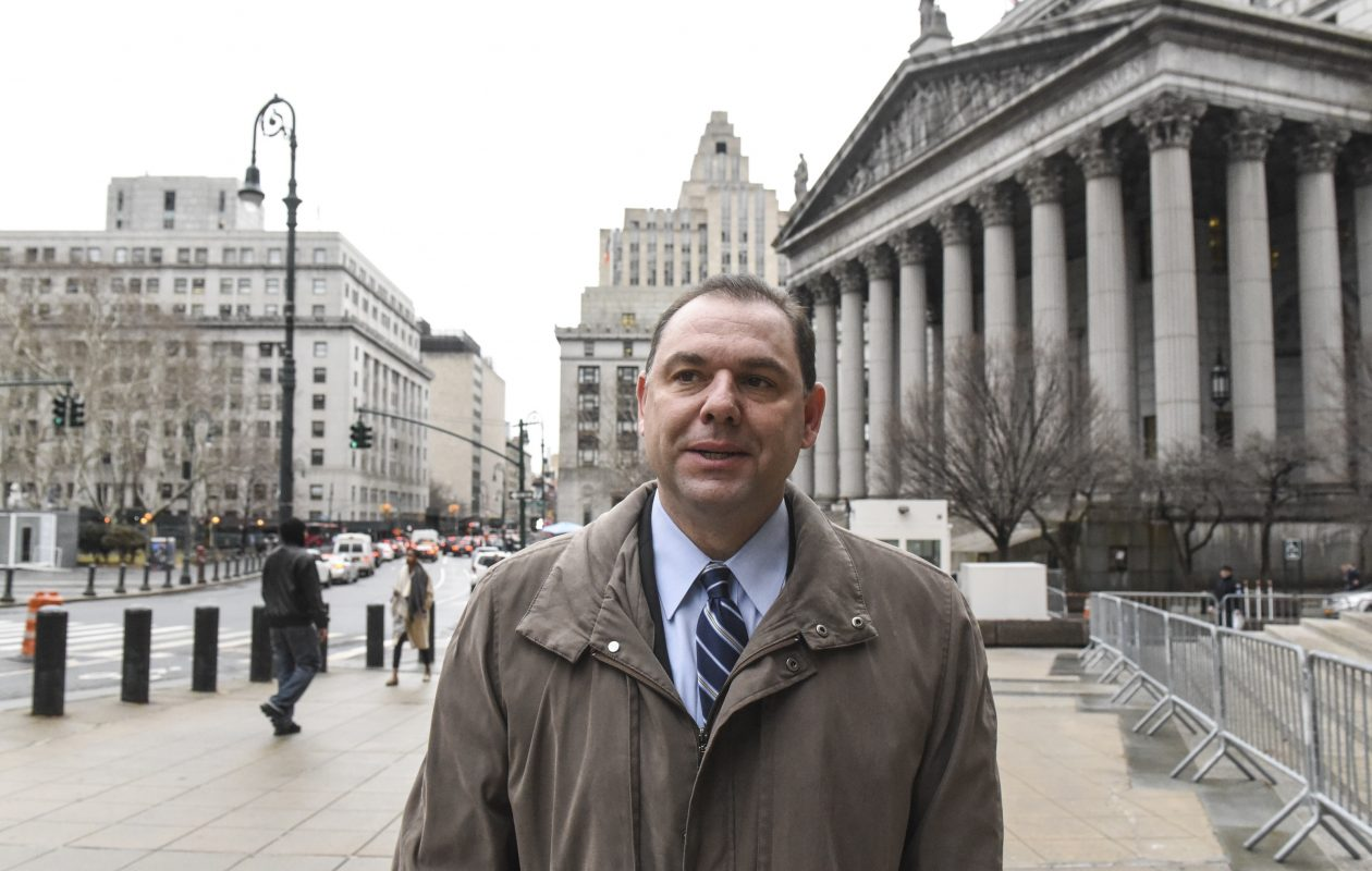 Joseph Percoco, a former top aide to Gov. Andrew Cuomo outside court during his federal corruption trial in New York. (New York Times)