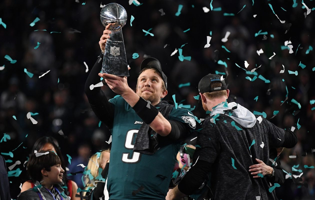 Nick Foles and the Eagles begin defense of their Super Bowl title. (Timothy A. Clary/Getty Images)