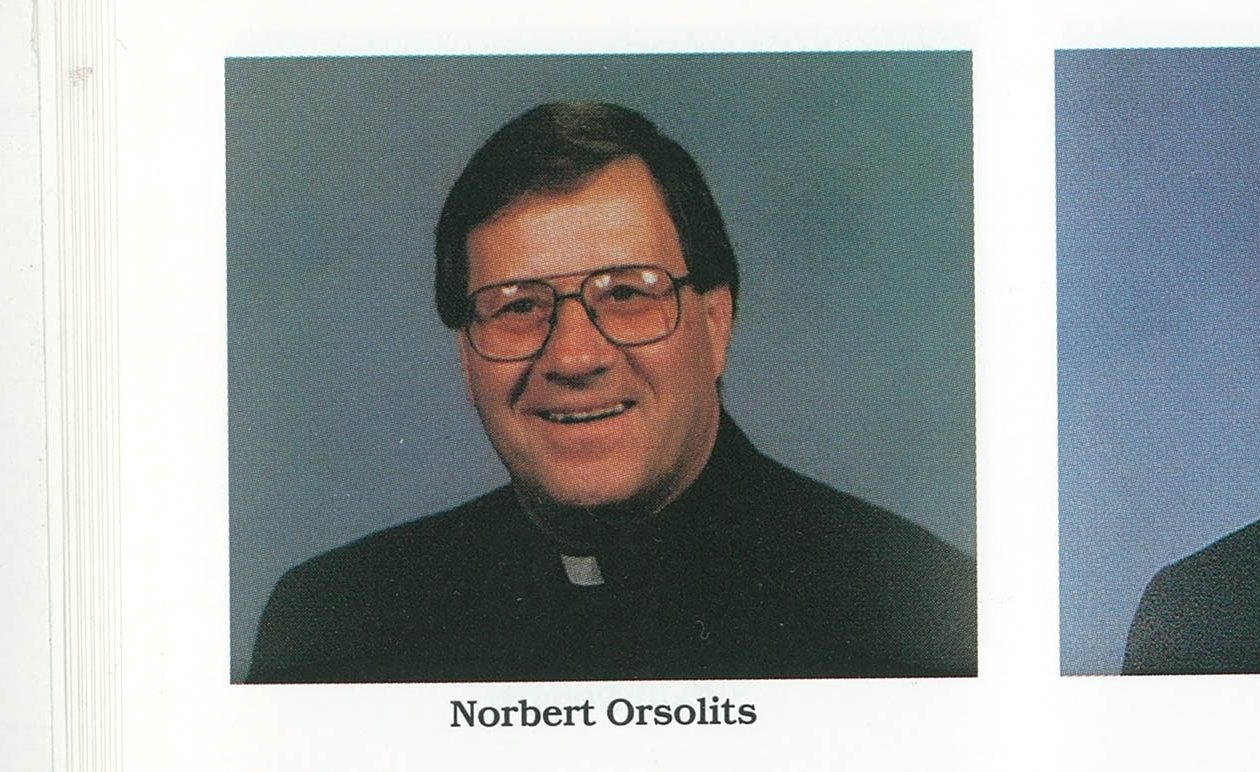 The Rev. Norbert F. Orsolits, from the 1995 Priests' Pictorial Directory (Diocese of Buffalo)
