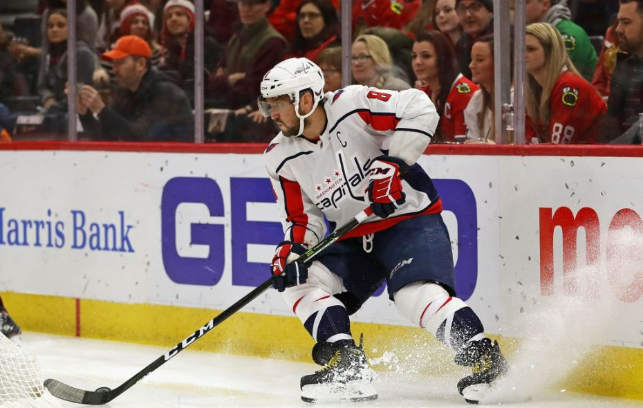 Alex Ovechkin had no shot attempts in a game for the first time in his career Saturday in Chicago (Getty Images).