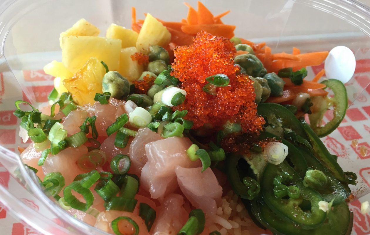 The Ono Bowl is one of the pre-set options on Fresh Catch Poke's menu. (Ben Tsujimoto/Buffalo News)