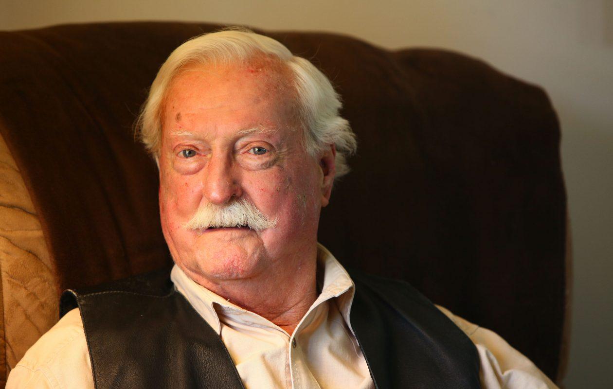 Richard F. Cotter, a Merchant Marine in World War II who served all over the globe, in his West Seneca home,  Oct. 5, 2011.   (Robert Kirkham / Buffalo News)
