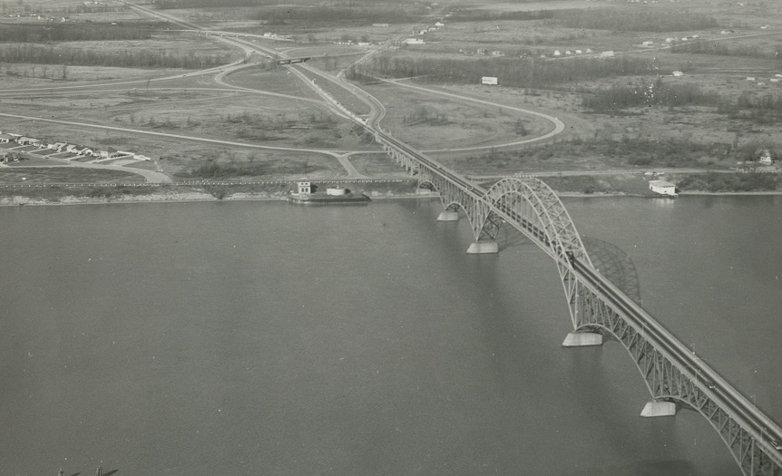 Before 1965, Grand Islanders had only one bridge to get between their homes and the mainland in Erie County. But their ancestors didn't have even that. (News file photo)