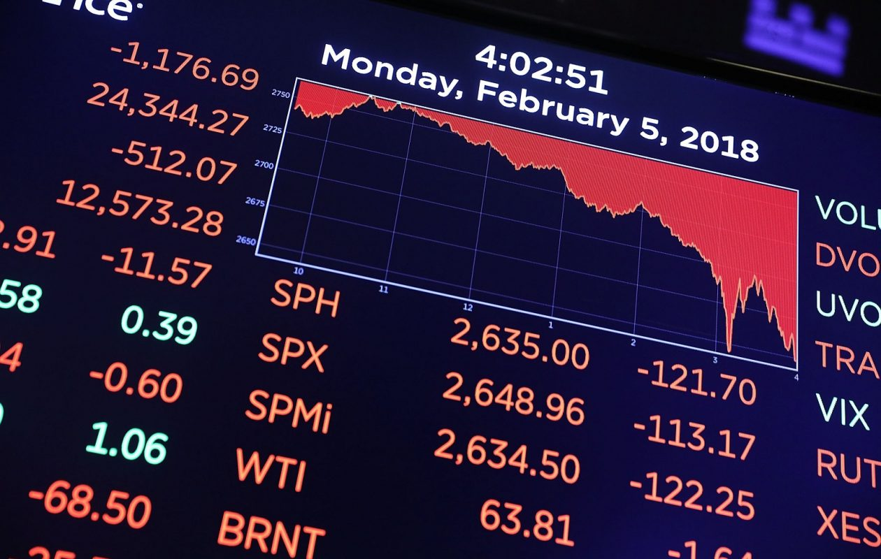 A trading board on the floor of the New York Stock Exchange (NYSE) shows the closing numbers on Monday.  (Spencer Platt/Getty Images)