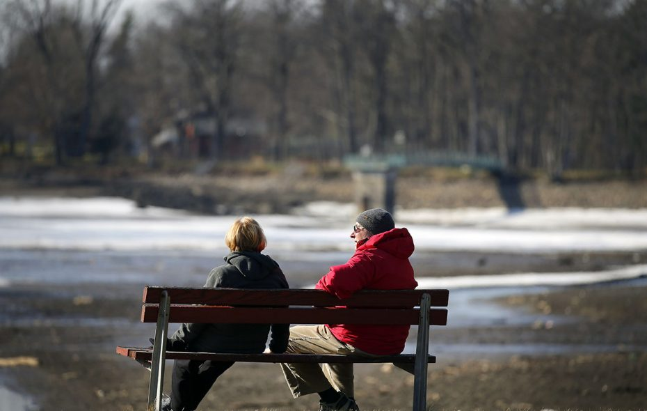 A break in the persistent cold pattern that's dominated since mid-October is expected for the end of this month, forecasts show. (Mark Mulville/Buffalo News file photo)