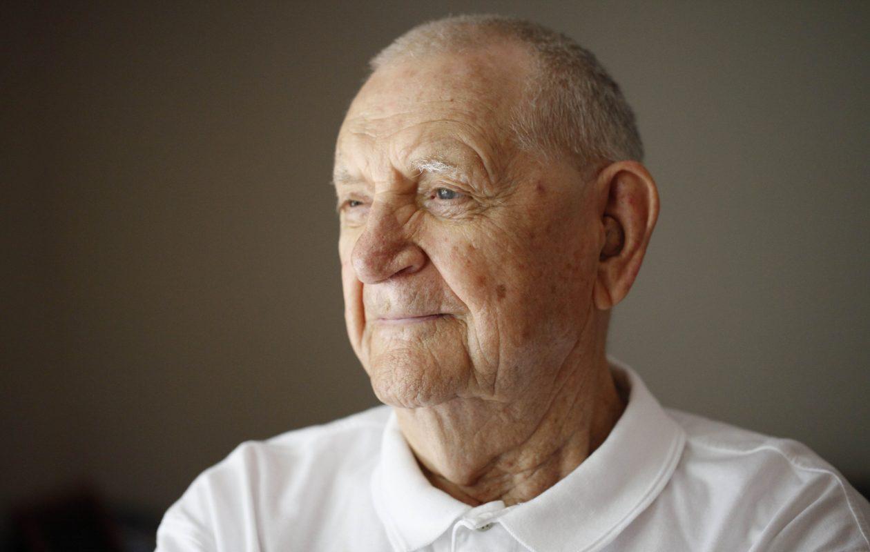 World War II Army veteran Walter N. Suchowiecki, of Hamburg, July 21, 2011.  (Derek Gee / Buffalo News)
