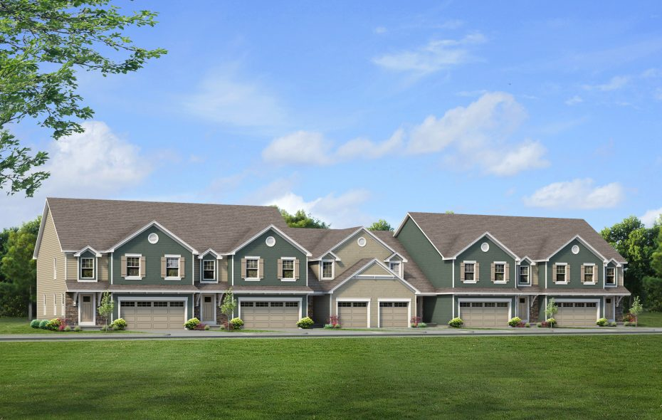 This is a rendering of the Windstone townhouses in Amherst that are now under construction. Marrano/Marc Equity recently purchased a 3.8-acre parcel where the company plans to build an extension of its Windstone development. (Provided by Marrano Homes)