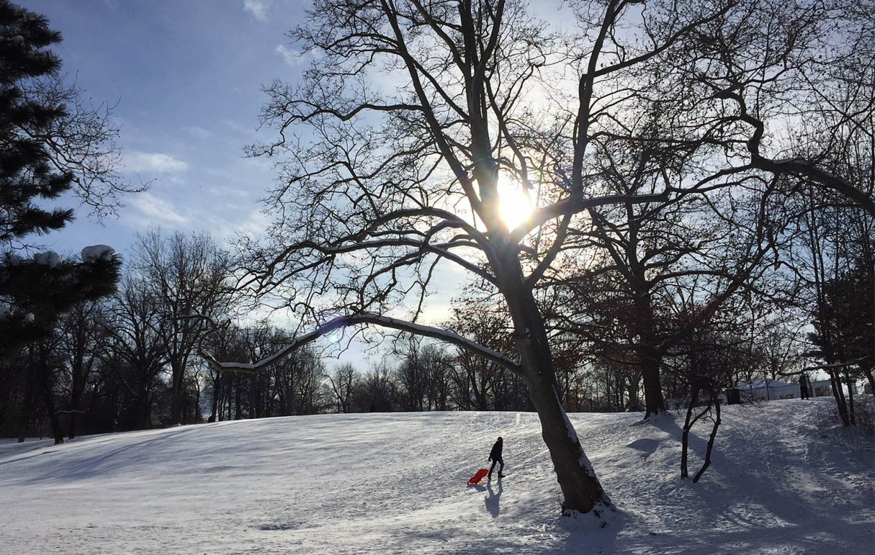 Expect chilly, and breezy, conditions today with temperatures only in the low to mid-30s under mostly sunny skies. (Sharon Cantillon/Buffalo News file photo)