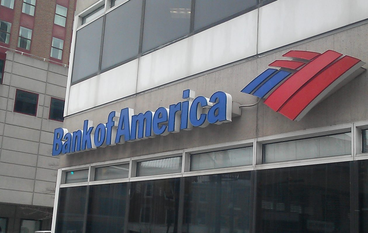 A Bank of America sign in downtown Buffalo. (Matt Glynn/Buffalo News)