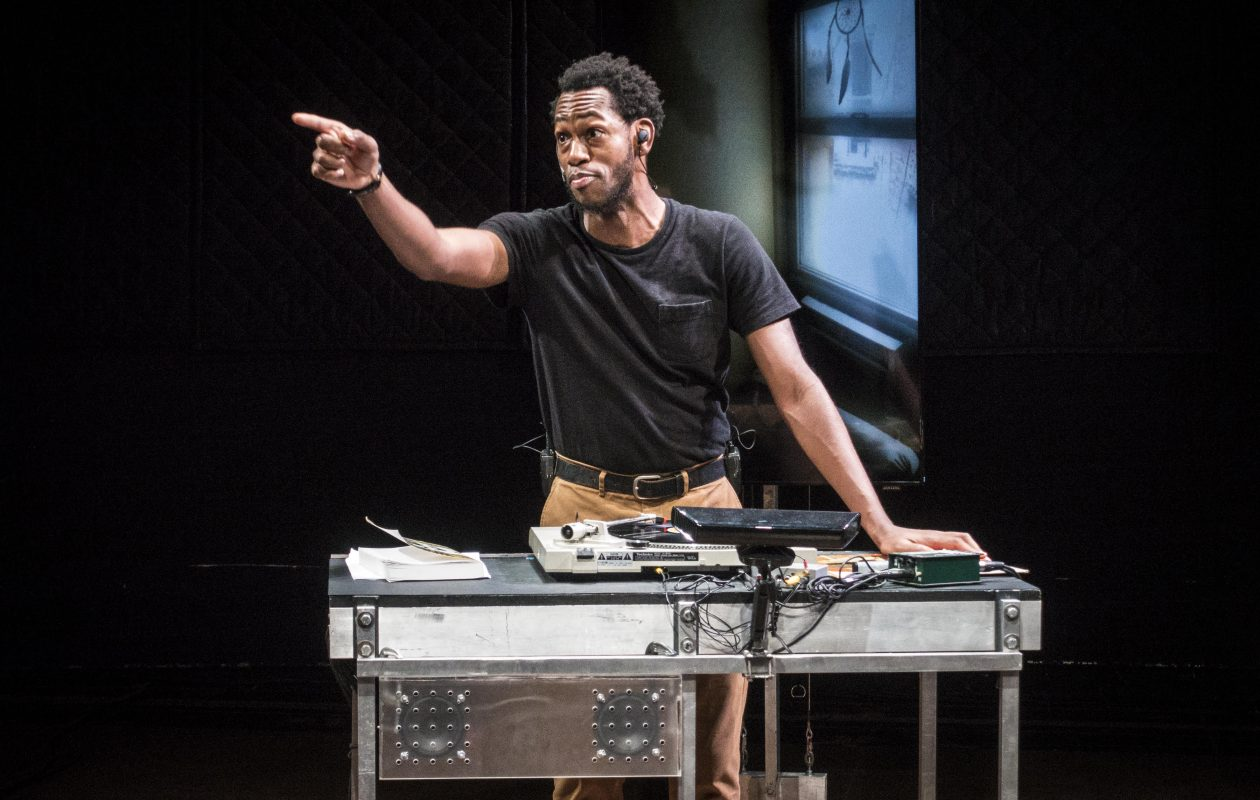 Eric Berryman stars in the Wooster Group's production of 'The B-Side,' a theatrical adaptation of Bruce Jackson's 1965 album of black work songs and spirituals. (Photo by Bruce Jackson)