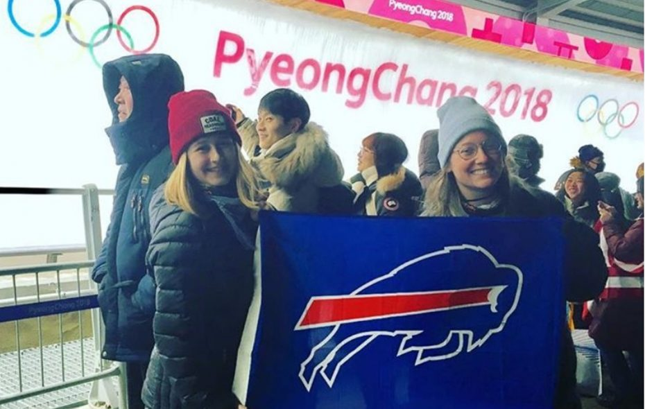 Mystery solved: Why these young Bills fans are roaming the Olympics