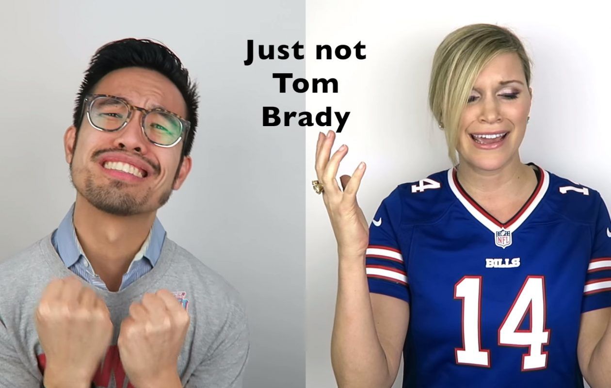 Jennie Fagen, right, is joined by fellow New England Patriots-haters in her new NFL-themed sendup 'Just Not the Pats.'