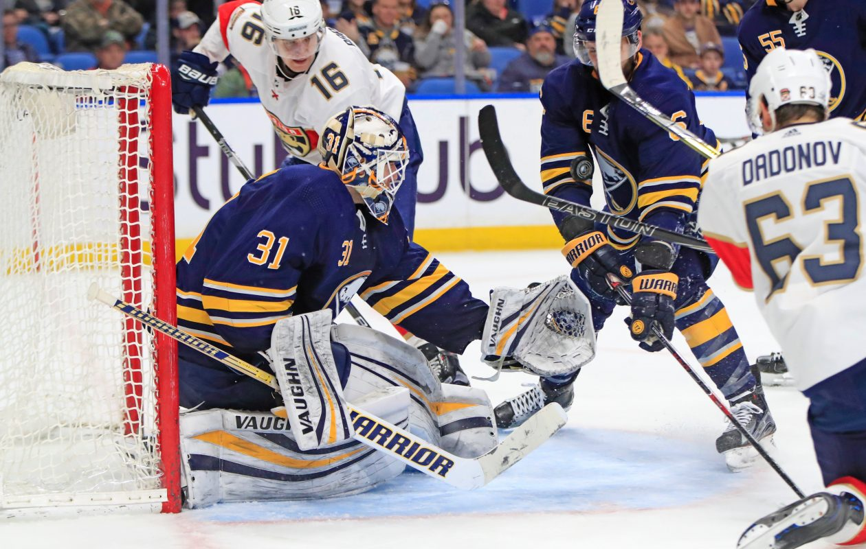 Chad Johnson did not suffer a concussion when struck in the head by a shot on Thursday  (Harry Scull Jr./News File Photo)