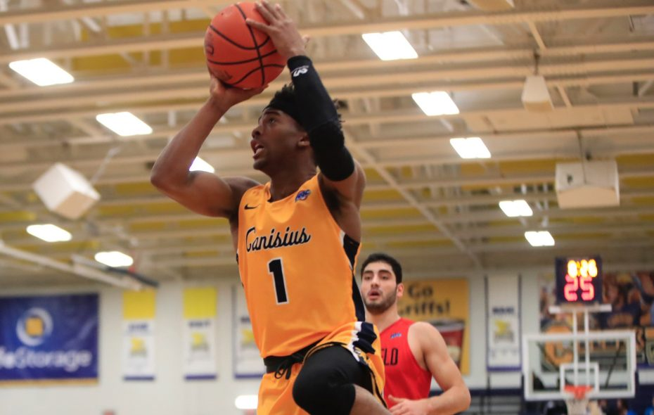 Canisius guard Malik Johnson grabbed a career-high 10 boards in Canisius' 81-63 victory against Fairfield Monday at the Koessler Athletic Center. (Harry Scull Jr. / Buffalo News)