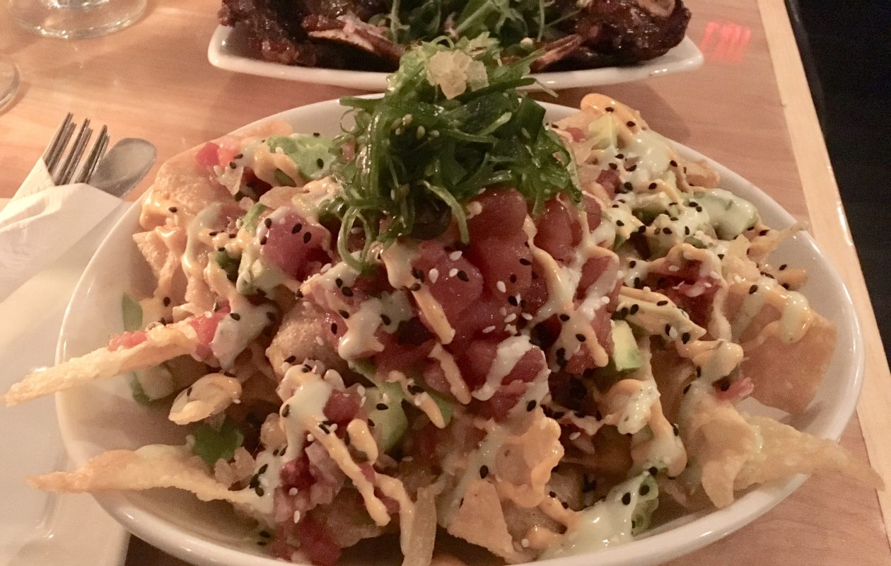 Not your average nachos: the fresh chopped tuna melts into the crunch of the fried wontons in the tuna nachos at the Griffon House. (Phil Wagner/Special to The News)