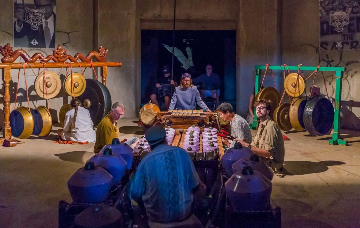 The Buffalo Gamelan Club is among the artists who will be surrounded by their audience on the Kleinhans stage. (Photo courtesy of the Buffalo Gamelan Club.)