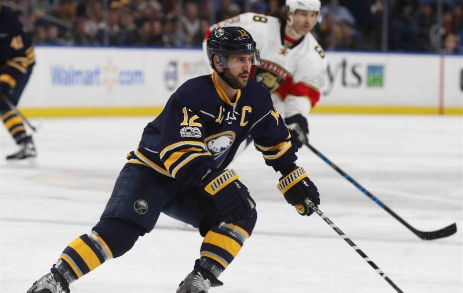 Brian Gionta captained the Sabres from 2014-2017 (James P. McCoy/News file photo).