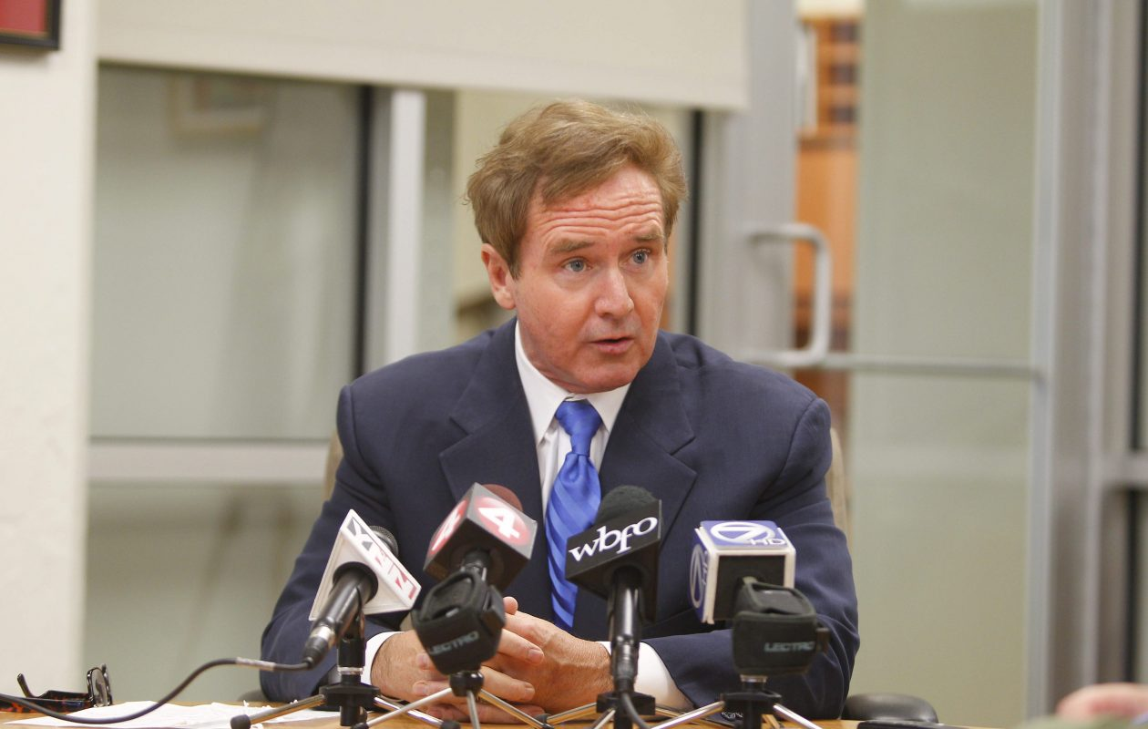 Rep. Brian Higgins called for six new projects on the waterfront using existing funds Thursday. (Mark Mulville/Buffalo News)