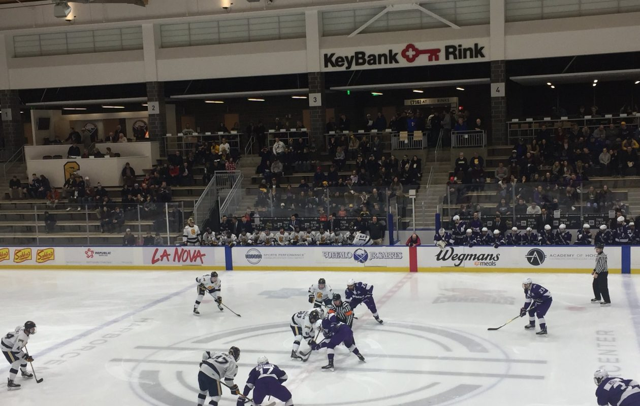 Canisius and Niagara met in HarborCenter Friday night.
