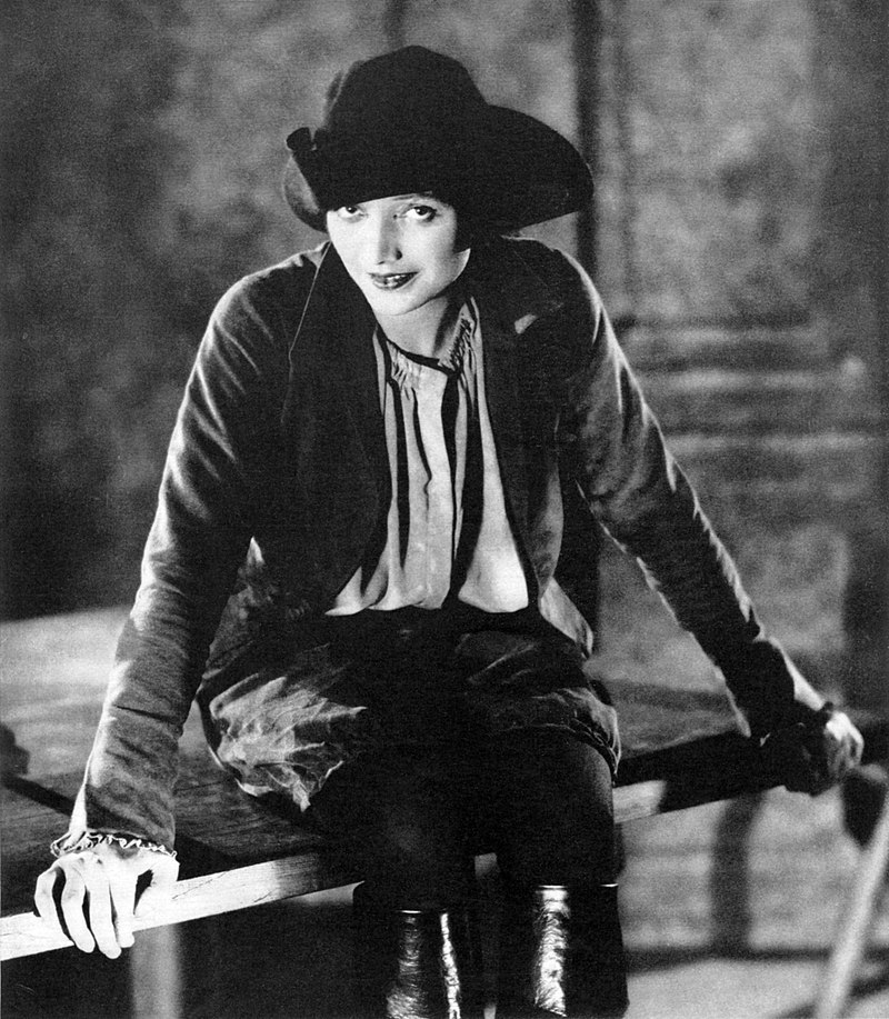 """(Photograph by Kendall Evans of Katharine Cornell as Mary Fitton in the Broadway production of Clemence Dane's play """"Will Shakespeare."""")"""