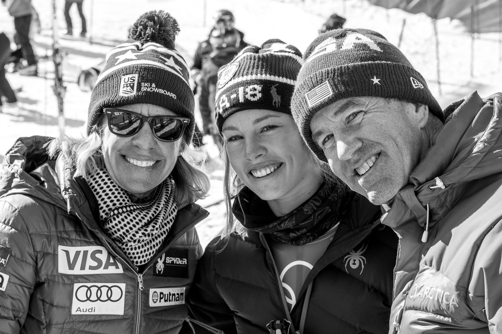 Olympian Tricia Mangan and her parents in South Korea (Family photo)