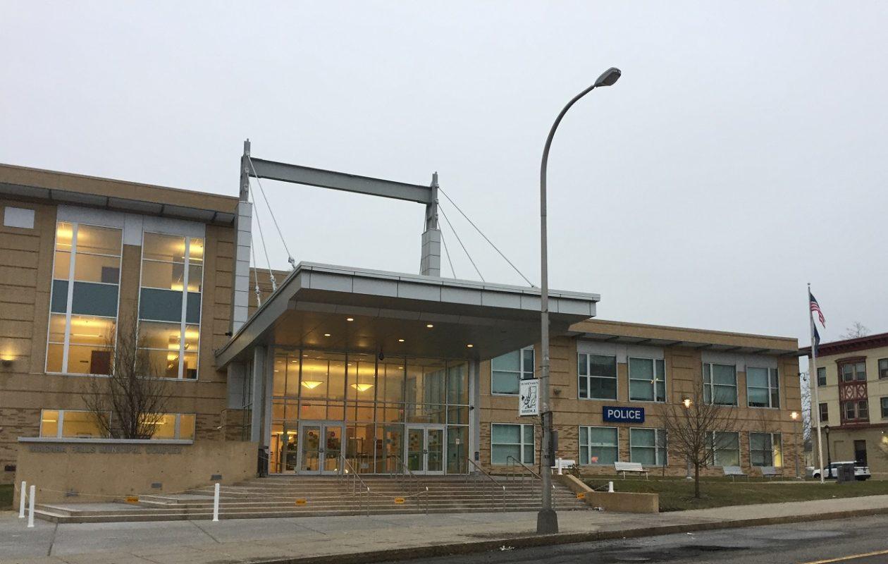 Niagara Falls police headquarters, located at 1925 Main St. (Aaron Besecker/Buffalo News)