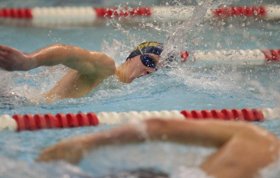 Patrick Hayter of Sweet Home, pictured winning the 200-yard freestyle at the 2015 Section VI championships. (Harry Scull Jr./Buffalo News)