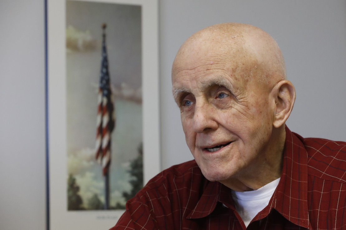 Air Force pilot Bob Fahey flew 73 missions bombing and strafing the North Koreans. He was hit once, but managed to land safely in South Korea. (Derek Gee/Buffalo News)