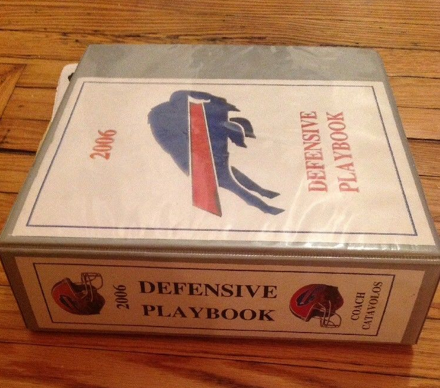 A Bills playbook that was sold for $710 on eBay. (Photo from eBay)
