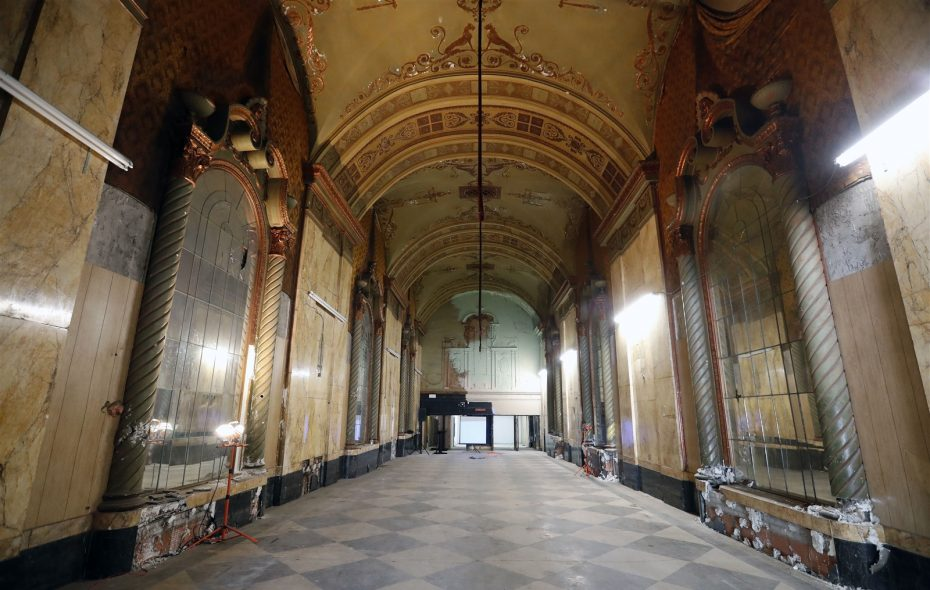 The entry of the Sheau's Seneca Theatre. (Mark Mulville/Buffalo News)