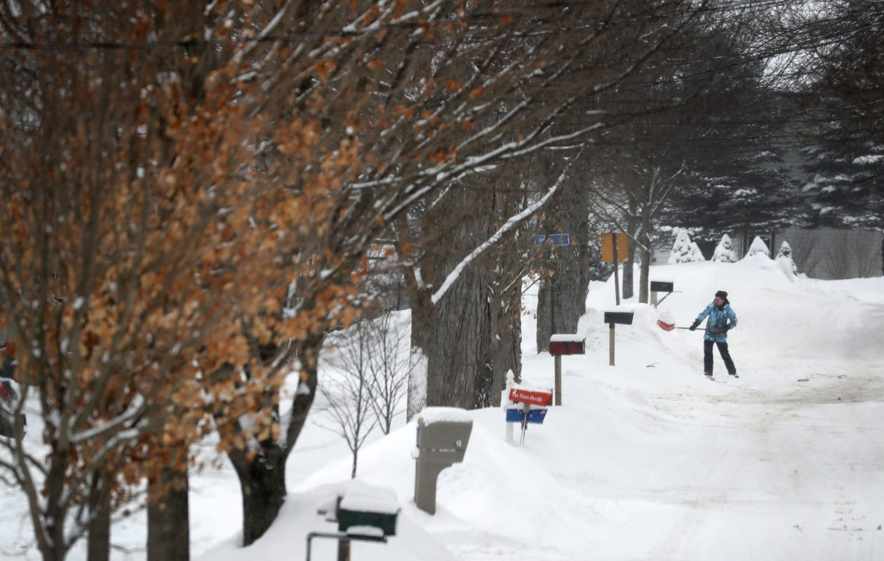 A slow roll of snow is forecast to fall over the Buffalo Niagara region through Saturday morning. When all's said and done, as much as a half-foot is possible around metro Buffalo, forecasters said. (Mark Mulville/Buffalo News)