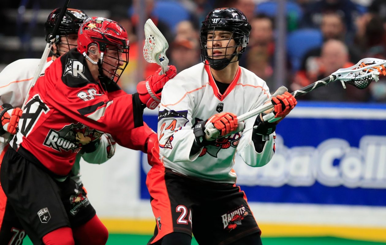 Buffalo Bandits forward Mitch Jones is on pace for a second straight 30 goal season. (Photo by Harry Scull Jr.)