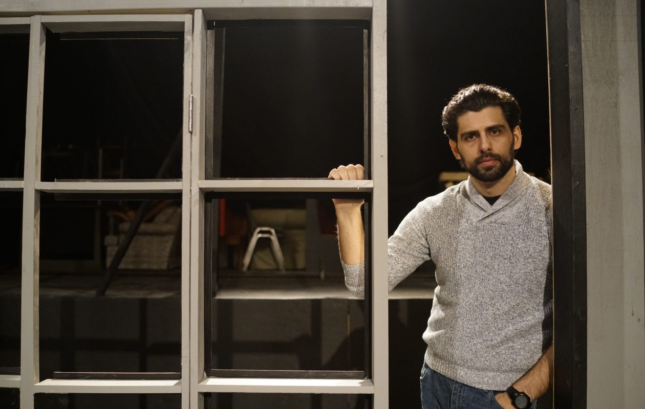 Brooklyn-based actor Afrim Gjonbalaj stars in Road Less Traveled Theatre's production of 'Disgraced,' a Pulitzer-winning play that explores Muslim identity in America by Ayad Ahktar. (Derek Gee/Buffalo News)